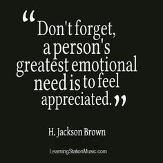 Amen, H. Jackson Brown!